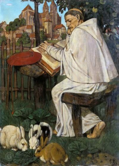 Фриц Беле. Читающий монах
