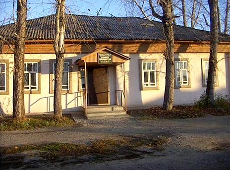 Деревянное здание библиотеки