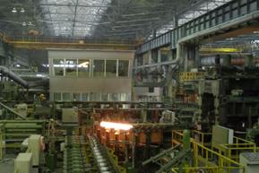 Таганрогский металлургический завод.  Интерьер трубопрокатного цеха.